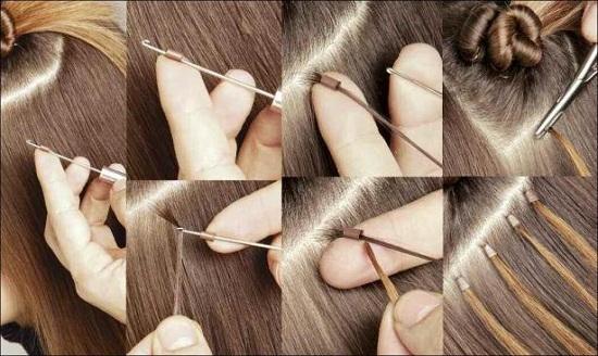 методам наращивания волос.