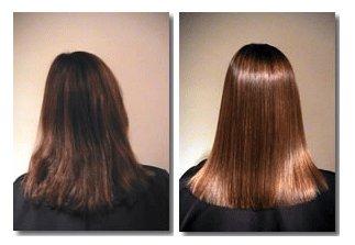Что такое кератиновое выпрямление волос фото до и после