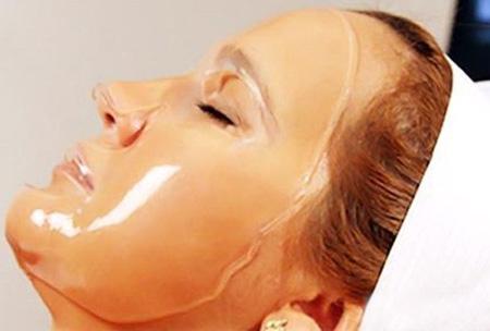 Маска для волос из желатина для лица