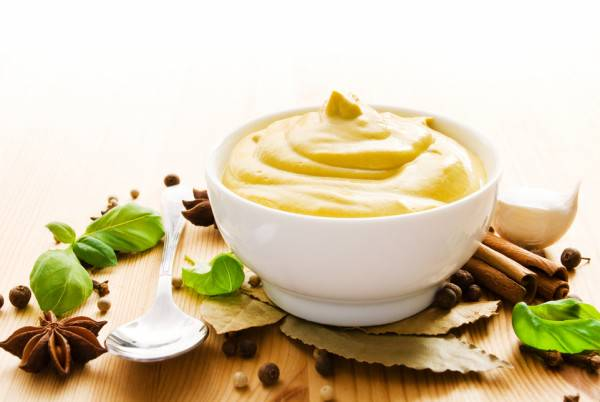 Маска горчица желток сахар масло