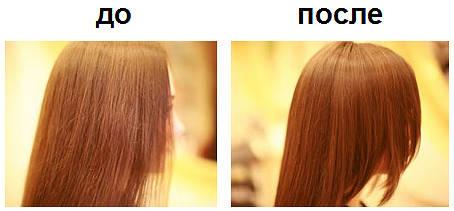 горячая стрижка ножницами фото до и после
