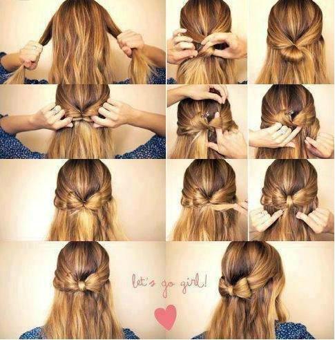 Прическа бантик для коротких волос