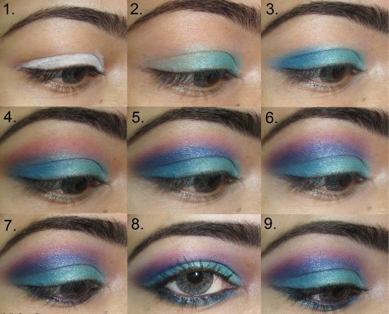 Макияж для голубых глаз пошаговое фото