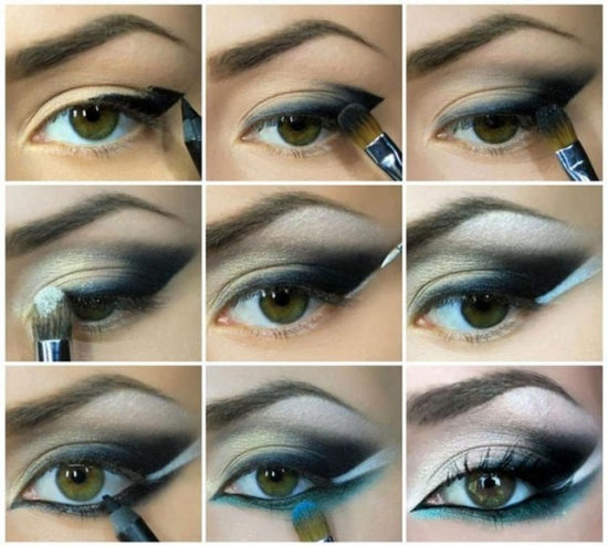 Макияж карих глаз пошаговое фото