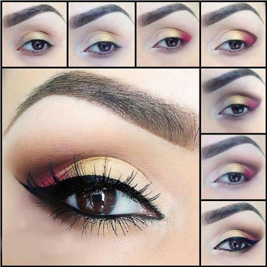 Скромный макияж для карих глаз 57