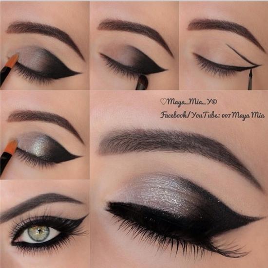 Дневной макияж для зеленых глаз с пошаговым 62