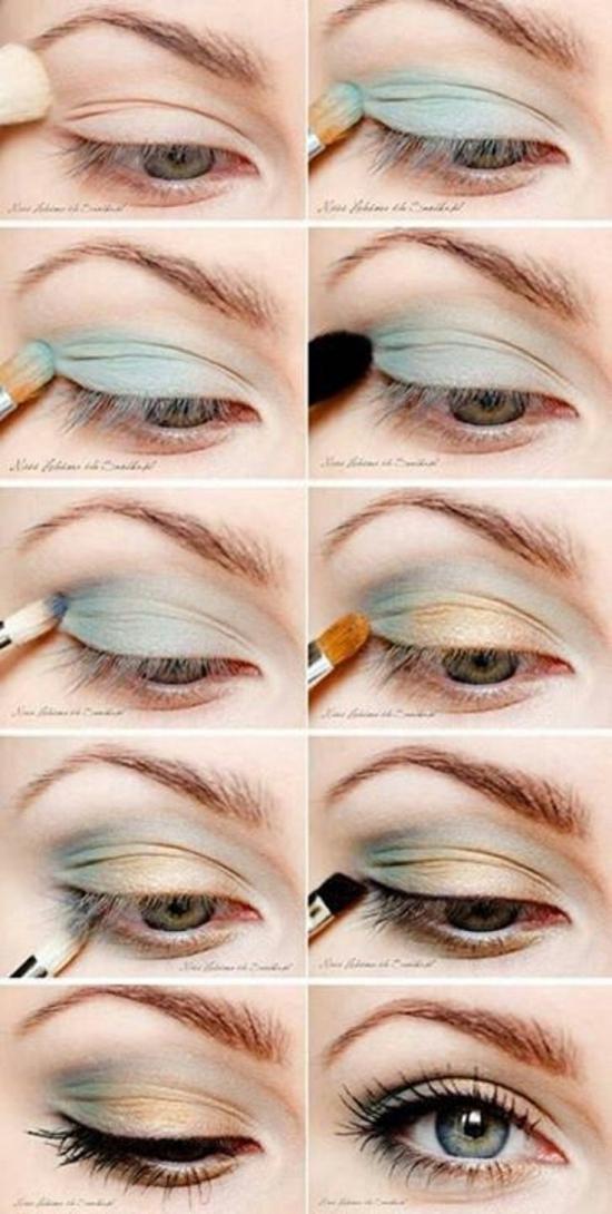 Макияж для зеленых глаз и светлых волос.фото