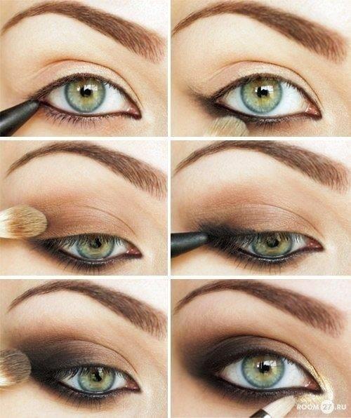 Макияж смоки для серых глаз пошаговое фото