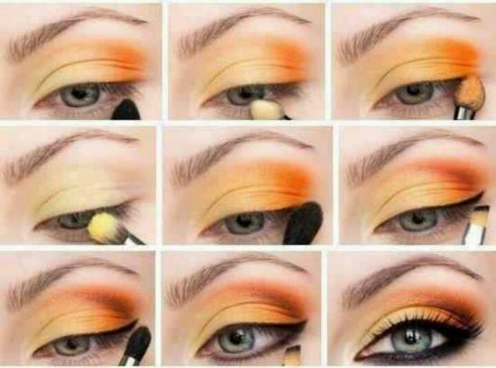 Яркий макияж для серых глаз