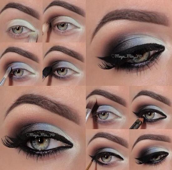 Красивый макияж для серых глаз