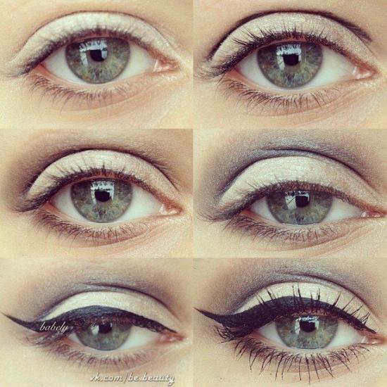 Ежедневный макияж для серых глаз