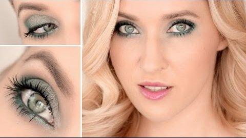 Макияж для серых глаз с каштановыми волосами