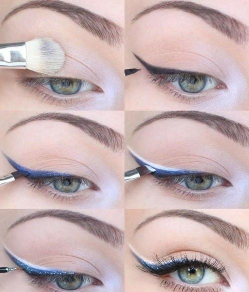 Вечерний макияж со стрелками фото