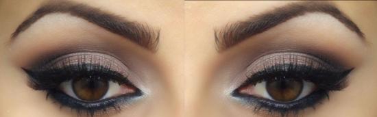Макияж карие глаза голубое платье