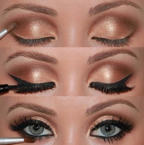Свадебный макияж для зелёных глаз