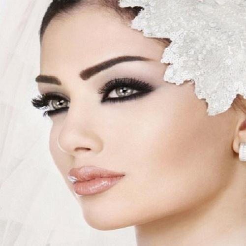 Тёмный свадебный макияж