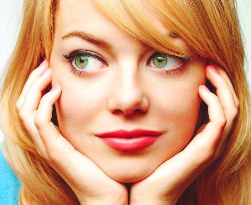 Макияж для блондинки с зелёными глазами