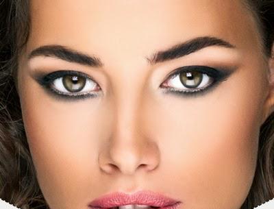 Круглые глаза сделать миндалевидными