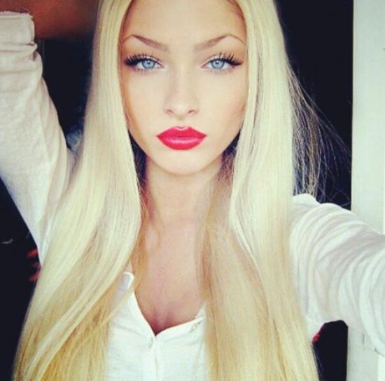 Какой цвет помады подходит блондинкам с карими глазами