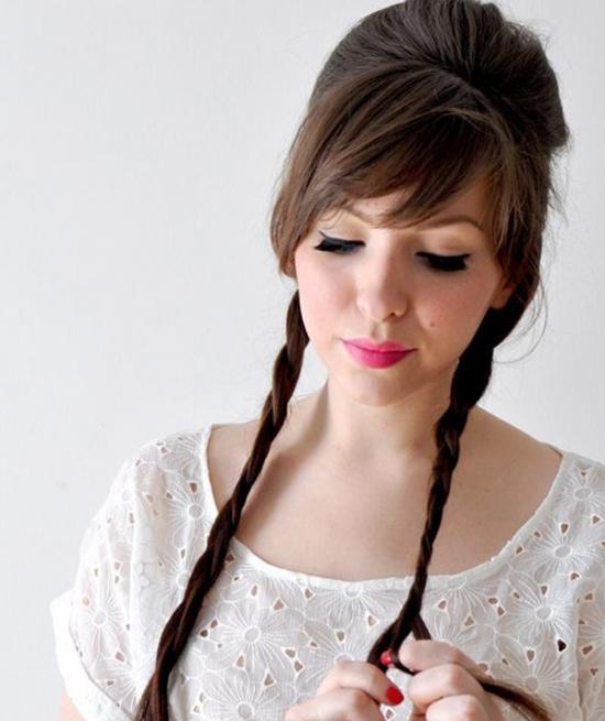 Как сделать начес на длинные волосы самой фото 765