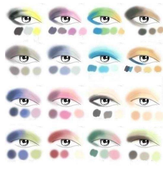выполнения макияжа глаз в