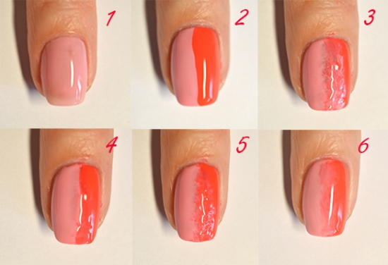 Как сделать омбре на ногтях гель лаком в домашних условиях