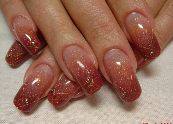 Дизайн гелевых ногтей лаком фото