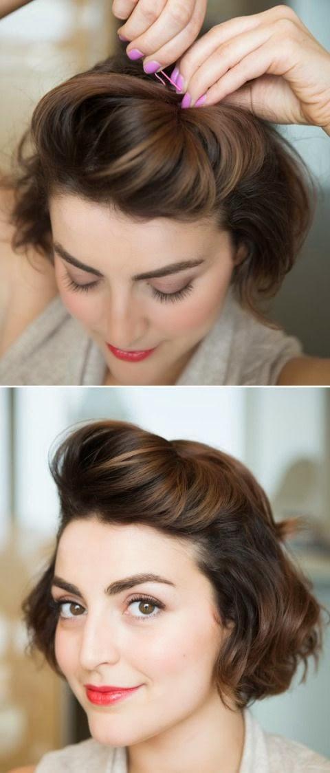 Как сделать объёмную причёску на короткие волосы 387