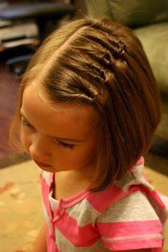 Детские причёски на короткие волосы