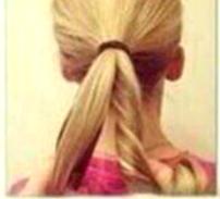 Красивый пучок из длинных волос