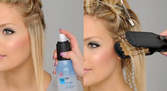 Гофрированная прическа короткие волосы