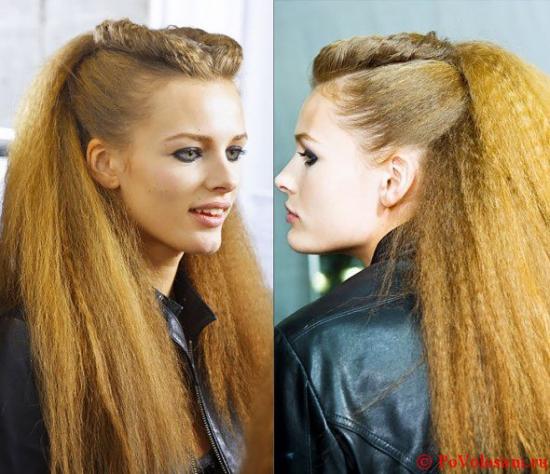 Причёски на гофрированные волосы