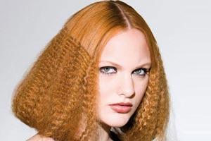 Причёски на длинные волосы гофре