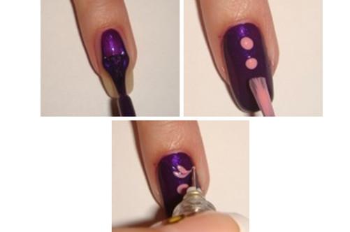 Рисунки на ногтях для начинающих пошаговое иголкой лаками видео