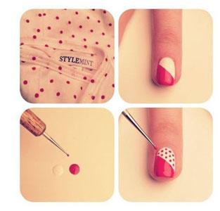 рисунки на ногтях для начинающих фото пошагово