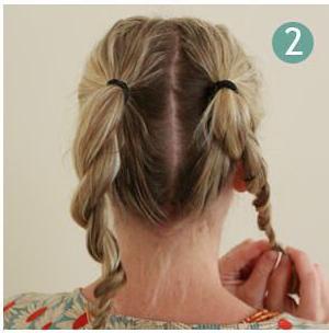 Как сделать простую причёску в школу