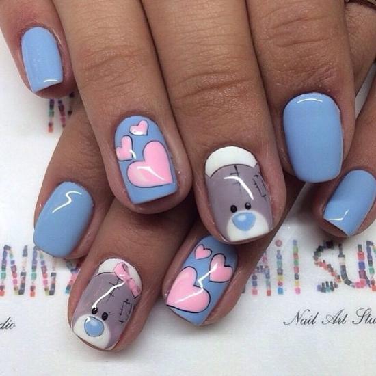 фото рисунки гелем на ногтях
