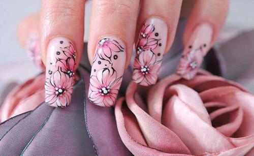 рисуем акриловыми красками на ногтях пошагово
