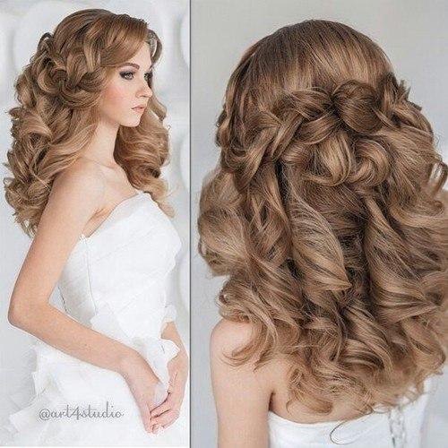 Причёски на длинные волосы торжественные