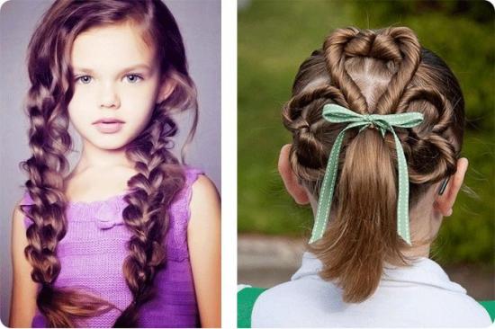 Простые причёски на средние волосы для девочек