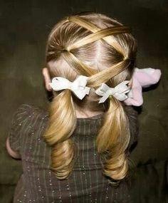 Лёгкие причёски для девочек