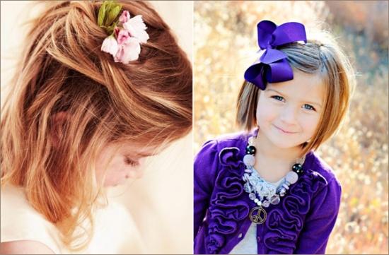 Нарядная прическа для девочки на средние волосы