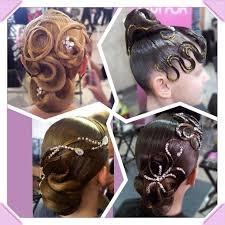 Причёска для бальных танцев