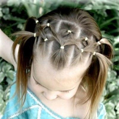 Простые детские причёски: фото