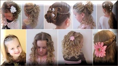 Причёски на выпускной в детском саду