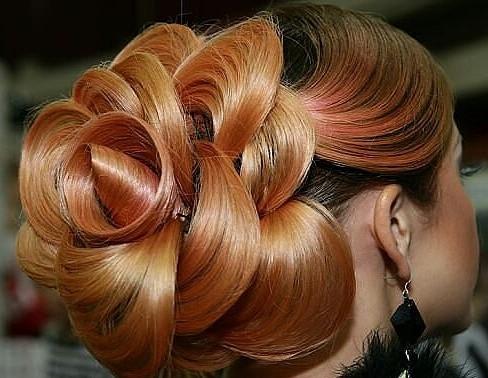 как сделать розу из волос на голове