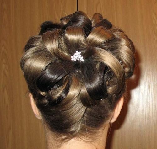 Цветок Из Волос Пошаговая Инструкция Видео - фото 9