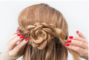 розочка из волос пошаговая инструкция - фото 9