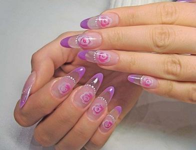 Дизайн ногтей покрытых биогелем