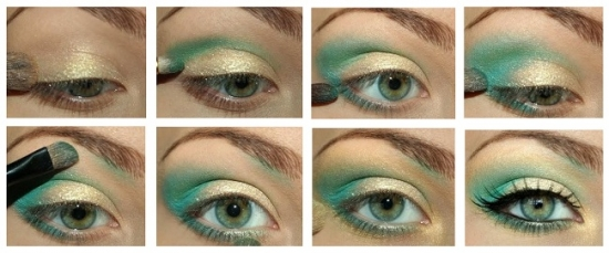 Фото макияжа для серо-голубых глаз